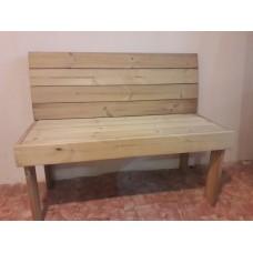 Скамейка со спинкой из термососны