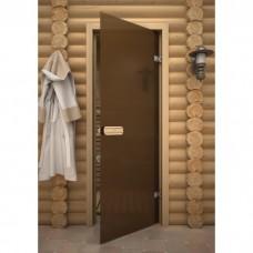 Дверь 7*19, стекло бронза матовое, осина